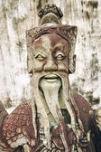 Chinese old statue — Stock Photo