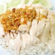 Royalty-Free Stock Photo: Rice steamed with chicken soup at Thailand
