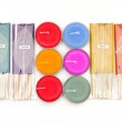 Stock Photo: Perfumed Incense aromsticks and candle for spa