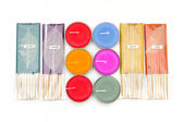 Perfumed Incense aroma sticks and candle for spa — Stock Photo
