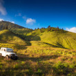 Tourists 4x4 for tourist rent at Mount Bromo — Stock Photo