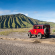 Tourists Jeep for tourist rent at Mount Bromo — Stock Photo #32284359