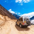 Постер, плакат: Tourist jeep at Chopta Valley Sikkim India