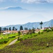 Stock Photo: Village at Mount Bromo in Bromo Tengger Semeru National Park