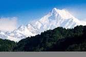 Mount Kanchenjunga range of the himalayas at Sikkim , India — Stock Photo