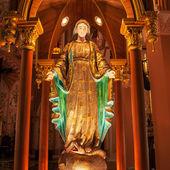 Hermosa estatua de maria en la iglesia — Foto de Stock