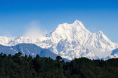 Mount Kanchenjunga range of the himalayas at Sikkim , India — ストック写真