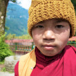 GANGTOK,SIKKIM,INDIA - APRIL 19 : Child buddhist monk  — Stock Photo