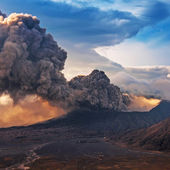 Bromo Volcano at East Java in the eruption time, Indonesia. — Stock Photo