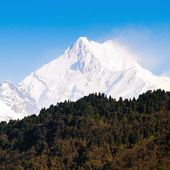 Mount Kanchenjunga range of the himalayas at Sikkim , India — 图库照片
