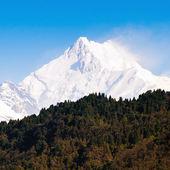 Mount kanchenjunga bereik van de himalaya op sikkim, india — Stockfoto