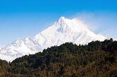 Kanchenjunga Mountain range of the himalayas at Sikkim , India — Stock Photo