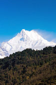 Mount Kanchenjunga range of the himalayas at Sikkim , India — Stockfoto