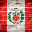 Stock Photo: Collection of South Americflag on old brick wall texture