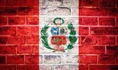 Collectie van zuid-amerika vlag op oude bakstenen muur textuur — Stockfoto