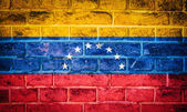коллекция флаг южной америки на старой кирпичной стены текстура — Стоковое фото