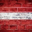Stock Photo: Collection of europeflag on old brick wall texture background