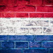 Collection of europeflag on old brick wall texture background — Stockfoto #36446421
