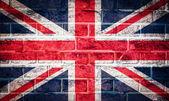 Colección de bandera europea sobre fondo de textura de pared de ladrillo viejo — Foto de Stock