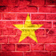 Stock Photo: Collection of Asiflag on old brick wall texture background