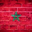 Стоковое фото: Collection of africflag on old brick wall texture background