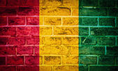Collection of africa flag on old brick wall texture background — 图库照片