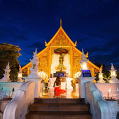 Prasing Temple on twilight time at Chiang Mai , Thailand — Foto de Stock