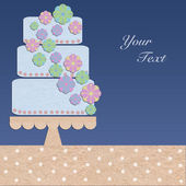 Paper greeting cake background — Stock Photo