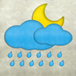 Weather plasticine craft stick on plasticine texture background — Стоковая фотография