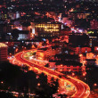Traffic in big city at night — Stok fotoğraf