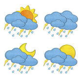 Collection of Weather plasticine craft stick on white background — Stock Photo