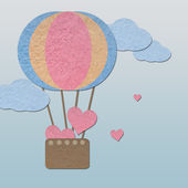 Ballon caring heart on sky — Стоковое фото