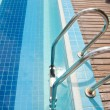 Stock Photo: Swimming pool with stair at hotel