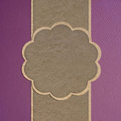 Leather texture and paper craft stick template frame design for — Stock Photo