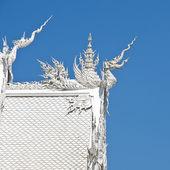 Thai temple name is Wat Rong Khun at Chiang Rai, Thailand — Stock Photo