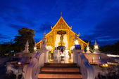 Prasing Temple on twilight time at Chiang Mai , Thailand — Stock Photo