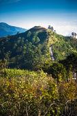 Punto di vista della natura sulla collina a doi ang khang montagne. — Foto Stock