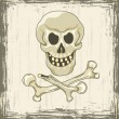 Skull and crossbones - Stockvectorbeeld