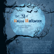 Stockvektor : Grungy halloween background
