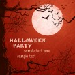Vector de stock : Grungy halloween background
