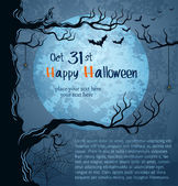 Grungy halloween background — Stock Vector