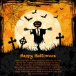 Grungy halloween background — Stock Vector #12770323