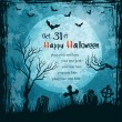 Grungy halloween background - Grafika wektorowa