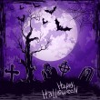Violet grungy halloween background - Stock Vector