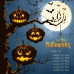 grungy halloween fundo azul — Vetorial Stock