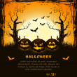 Orange grungy halloween background - 图库矢量图片