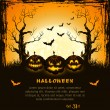 Orange grungy halloween background - Stockvectorbeeld