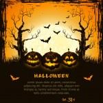 fundo de halloween laranja grungy — Vetorial Stock