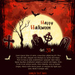 Red grungy halloween background — Stockvektor
