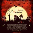 Red grungy halloween background - Stock Vector